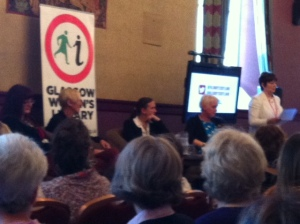 The Female in Crime Fiction panel being introduced