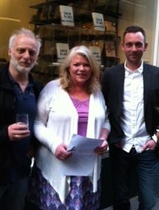 (L-R) Quentin Bates, Karen Sullivan - Orenda Books, Ragnar Jónasson
