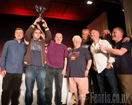 Val McDermid presents the cup to The North (photo credit: Fenris Oswin)