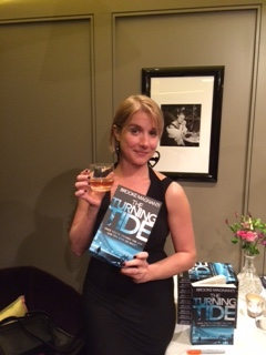 Brooke Magnanti with her book The Turning Tide