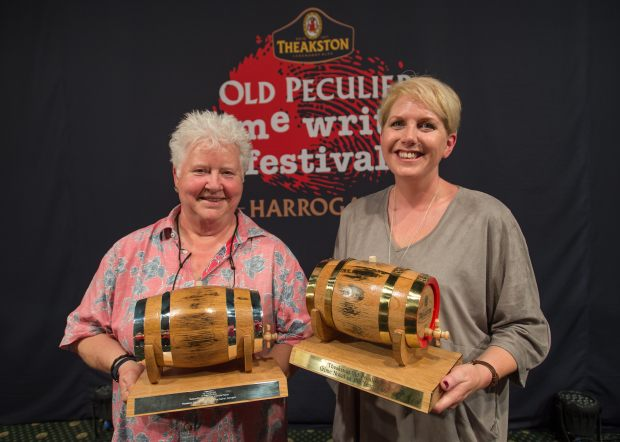 Val McDermid - Life Time Achievement Award Crime Novel of the Year Award 2016 Clare Macintosh - Winner Best Crime Novel of the year (c) Charlotte Graham/Guzelian