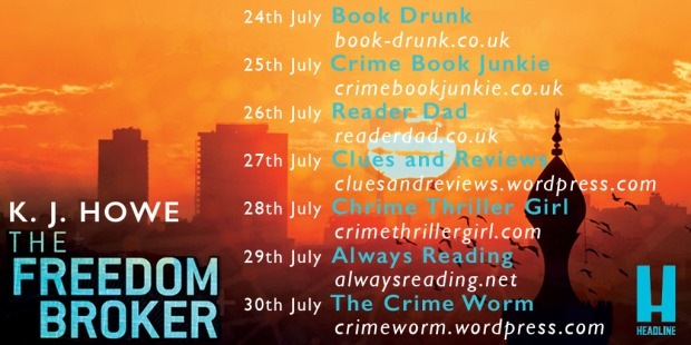 The Freedom Broker blog tour graphic
